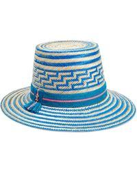 Yosuzi Solana Woven Straw Hat - Blue