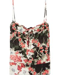 Rag & Bone - Floral-print Twill Top - Lyst