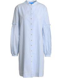 M.i.h Jeans - Myers Striped Cotton-seersucker Mini Dress - Lyst