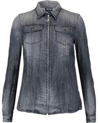 Just Cavalli | Stud Embellished Denim Shirt | Lyst