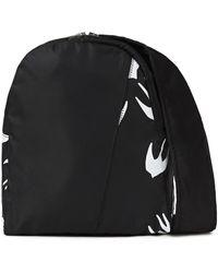 McQ Printed Shell Backpack Black