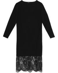 Raoul - Lace-paneled Merino Wool Dress - Lyst