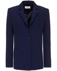 Victoria, Victoria Beckham Twill Blazer - Blue