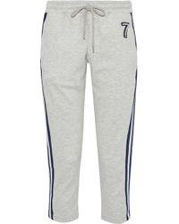 Markus Lupfer - Daria Cropped Appliquéd Jersey Track Pants - Lyst