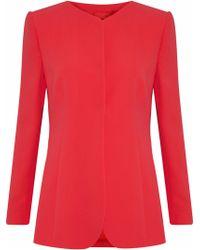 Giorgio Armani - Pleated Silk-crepe Jacket - Lyst