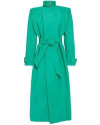 Balenciaga Oversized Cotton-blend Gabardine Trench Coat - Green