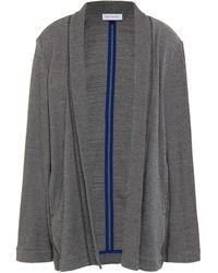 NINETY PERCENT Organic Cotton-blend Jacquard Jacket - Grey