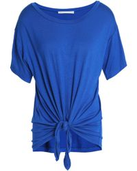 Kain - Knotted Jersey T-shirt Bright Blue - Lyst