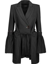 Ellery - Riot Paneled Gathered Twill And Canvas Jacket - Lyst