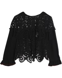 Ganni - Broderie Anglaise Top - Lyst