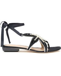 5371893a5fd8 Tory Burch Cassia Leather Sandals in White - Lyst