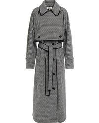 Diane von Furstenberg Patsy Double-breasted Printed Cotton-blend Coat - Black