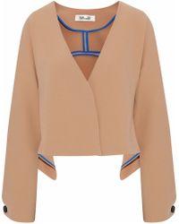 Diane von Furstenberg - Draped Crepe Jacket - Lyst