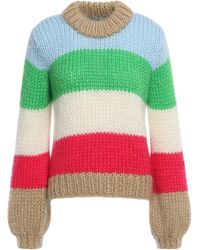 Ganni Julliard Color-block Mohair And Wool-blend Sweater Multicolor