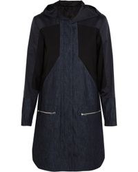 Tim Coppens | Denim, Cotton And Silk-blend And Stretch-wool Parka Mid Denim | Lyst