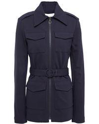 Victoria, Victoria Beckham Belted Ponte Jacket - Blue