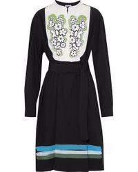 Tomas Maier - Belted Printed Cotton-poplin Shirt Dress - Lyst