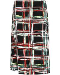 Marni - Checked Canvas Skirt - Lyst