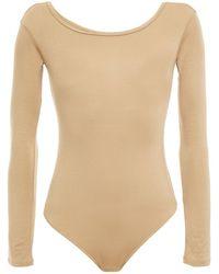 Enza Costa Stretch-jersey Bodysuit - Natural