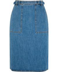 M.i.h Jeans - Juno Belted Denim Skirt Mid Denim Size Xs - Lyst