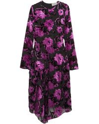 08dac8deacc4 Preen By Thornton Bregazzi - Alyssa Floral Devoré Midi Dress - Lyst