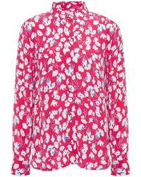 Equipment Floral-print Silk Crepe De Chine Shirt - Pink