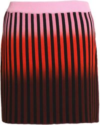 Opening Ceremony - Striped Stretch-cotton Mini Skirt Bright Pink - Lyst