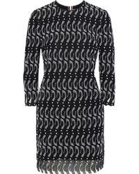Thom Browne Penguin Guipure Lace Mini Dress - Black