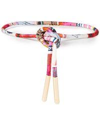 Zimmermann Cotton And Silk-blend Satin Belt - Multicolour