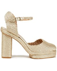 Castaner Castañer Casia Metallic Woven Platform Court Shoes