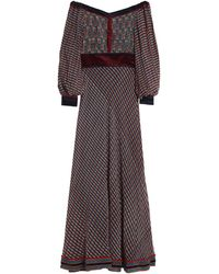 Talitha Off-the-shoulder Printed Silk-chiffon Maxi Dress - Black