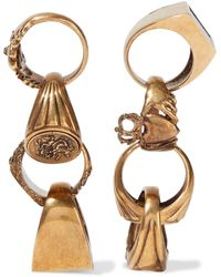 Stella McCartney Burnished Gold-tone Stone Earrings Brass - Metallic