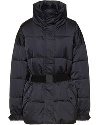 Ba&sh Carrie Belted Quilted Shell Jacket - Black