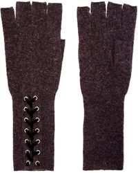 Autumn Cashmere - Lace-up Cashmere Fingerless Gloves - Lyst