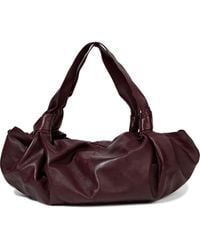The Row Ascot Medium Knotted Leather Tote Merlot - Multicolour