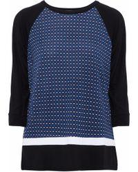 DKNY - Printed Stretch-modal Pajama Top - Lyst