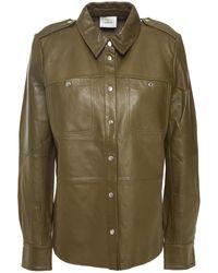 Gestuz Laila Leather Shirt Army Green