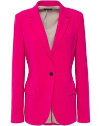Theory Staple Crepe Blazer Magenta - Pink