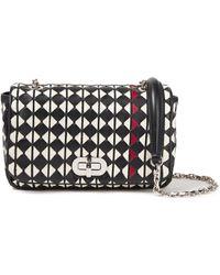 Serapian Mosaico Leather Shoulder Bag - Red