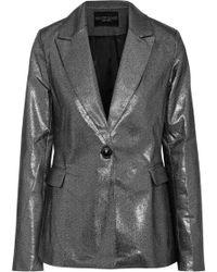 W118 by Walter Baker - Elena Metallic Cotton-blend Blazer - Lyst