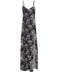 Reformation Harlowe Floral-print Crepe Maxi Dress - Black