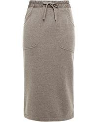 Gentry Portofino Cashmere Skirt - Grey