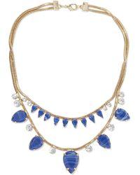 Noir Jewelry 14 Kt. Vergoldete Kette Mit Steinen Und Kristallen Größe - Metallic