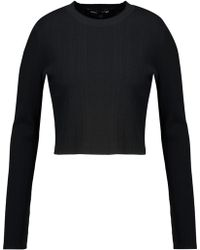 Proenza Schouler - Cropped Ribbed Stretch-knit Jumper - Lyst