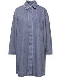MM6 by Maison Martin Margiela Oversized Denim Shirt - Grey