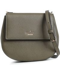 Kate Spade Textured-leather Shoulder Bag Army Green