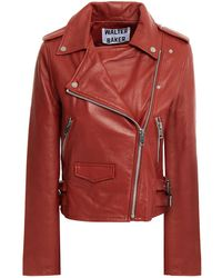 Walter Baker Liz Leather Biker Jacket - Red