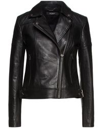 Muubaa Mary Quilted Leather Biker Jacket - Black