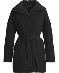 James Perse - Belted Shell Down Jacket - Lyst