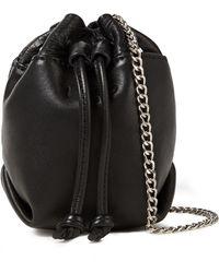 IRO Pietro Textured-leather Bucket Bag - Black